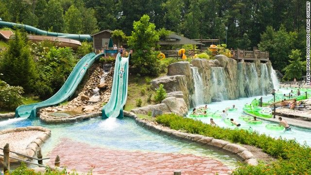 Dollywood Splash Country in Pigeon Forge, Tennessee, ranks fourth on t...