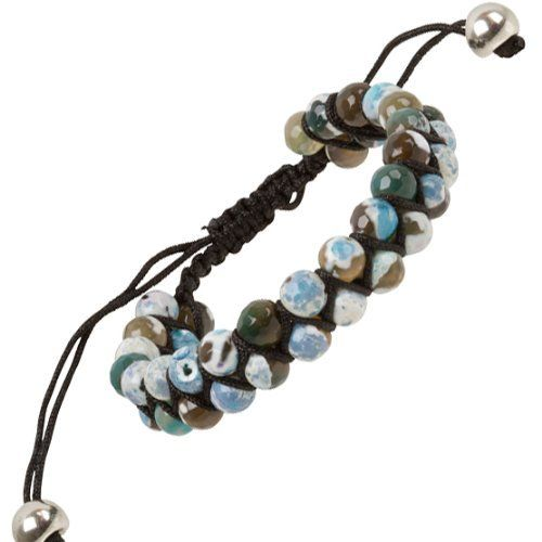 "Heirloom Finds Double Row Chrysocolla Bead Macrame Friendship Shamballa Bracelet Heirloom Finds. $15.99. Bracelet adjusts from 7"" to 10"". Arrives Gift Boxed!. Perfect for a Man or Woman. Wear alone or layer with other bracelets. Double Row of faceted 6mm Beads, total bracelet width 12mm"