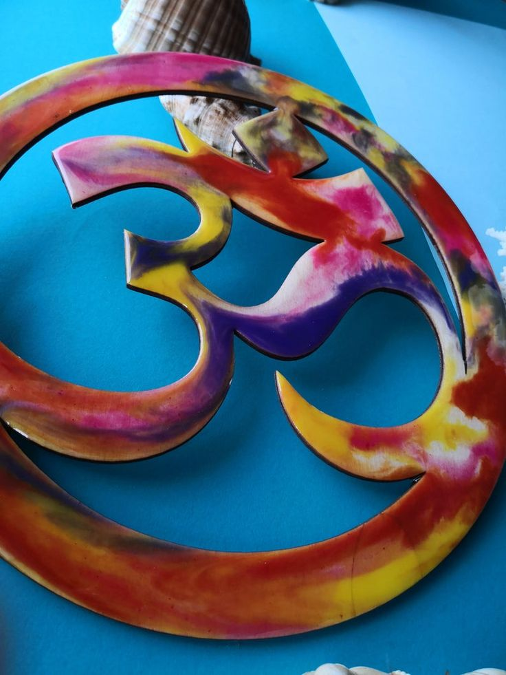 Epoxy resin wall decor om will be great gift for wedding