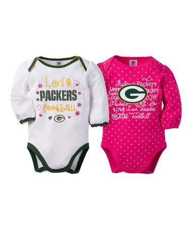 Green Bay Packers Two-Piece Long-Sleeve Bodysuit - Infant #zulily #zulilyfinds