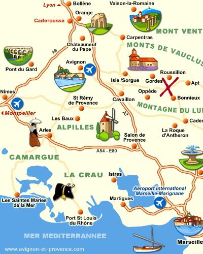 Provence attraction map