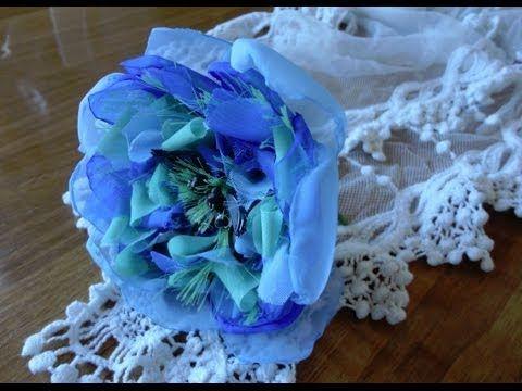 Фантазийный цветок из вуали - YouTube