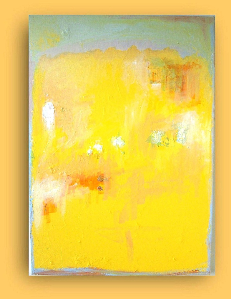 Nice for the bathroom yellow original abstract painting for Nice acrylic paintings