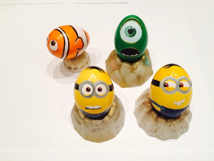 #Easter #eggs, #Minions, #nemo and #Mike from #Monster inc just a bit more tanned ;) #diy