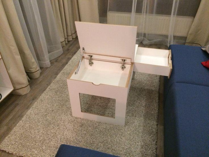 Stolik biała sklejka