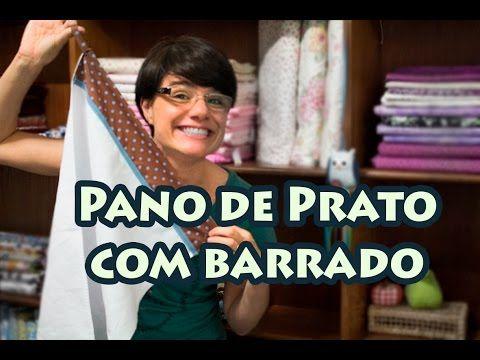 Passo a Passo - Paninhos e Afins - Pano de Prato com Barrado - Lê Rey - YouTube