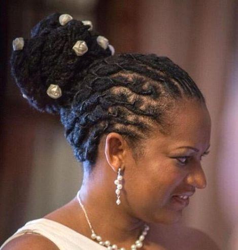 black braided bun hairstyle