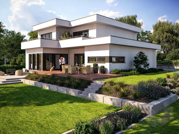 Fine Arts 239 von Bärenhaus ➤ Alle Häuser unter: https://www.fertighaus.de/haeuser/suche/ Fertighaus, Einfamilienhaus, Fertigteilhaus, Eigenheim, Fertigbau, Haustypen, Hausbau, Einfamilienhaus, Eigenheim