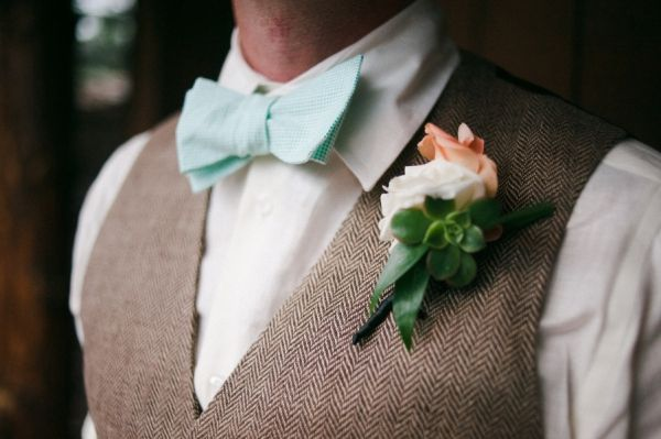 Mint ties. Vests. J. Crew.