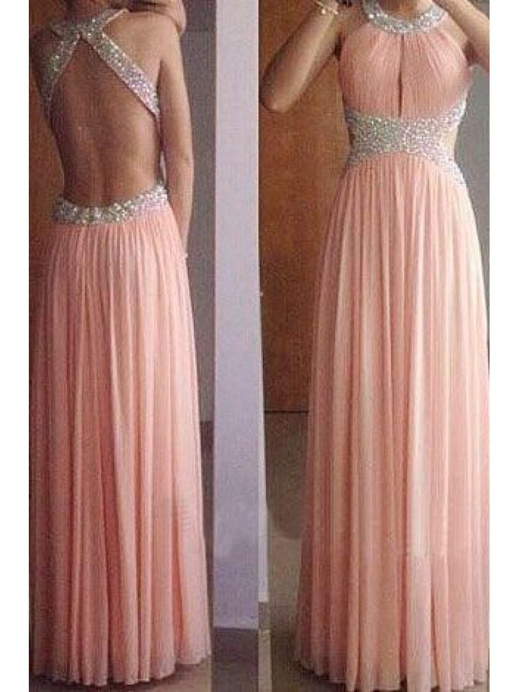 Sheath/Column Beaded Long Pink Prom Dresses Evening Gowns 99602231