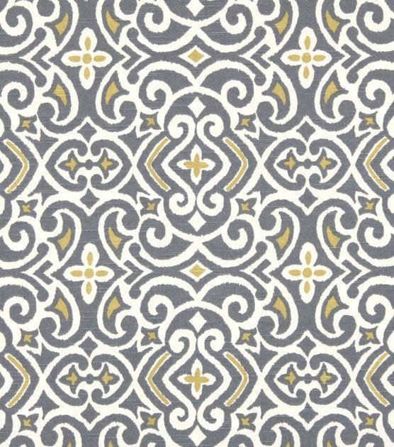 Upholstery Fabric-Robert Allen New Damask Greystone, , hi-res