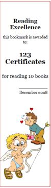 Free Valentine's Day bookmarks, Valentine's Day awards, bookmark maker, holiday reading awards; 100% customizable