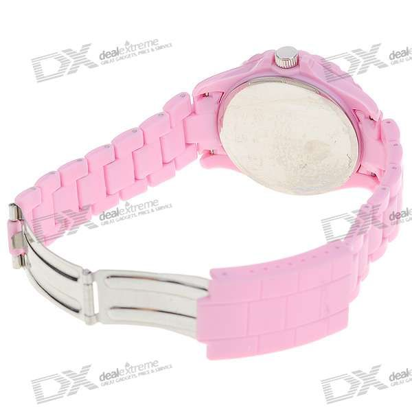 Crystal Fashion Wrist Watch - Pink  (1*377)