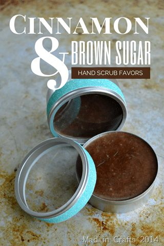 CINNAMON & BROWN SUGAR HAND SCRUB FAVORS – Mad in Crafts