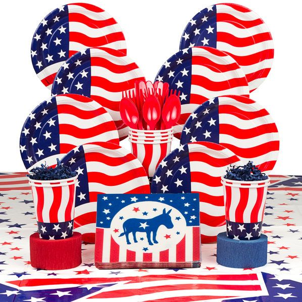 Check out Democrat Party Deluxe Tableware Kit (Serves 8) | Flying Colors…