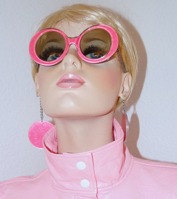 60s 70s Je-Dol Novelty Sunglasses with Pendant by ModVibeVintage