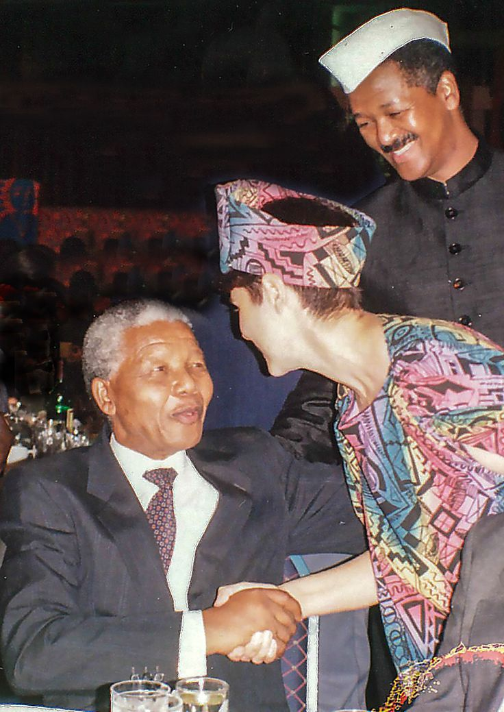 We were so honoured to have helped Madiba from 1992 in spreading the message of the Rainbow Nation by forming our 500-voice multiracial youth choir and then touring it throughout South Africa aboard The Peace Train. This is one of my favorite moments with our beloved Madiba right after my band performed for him on his 75th birthday. Picture submitted by Sharon Katz