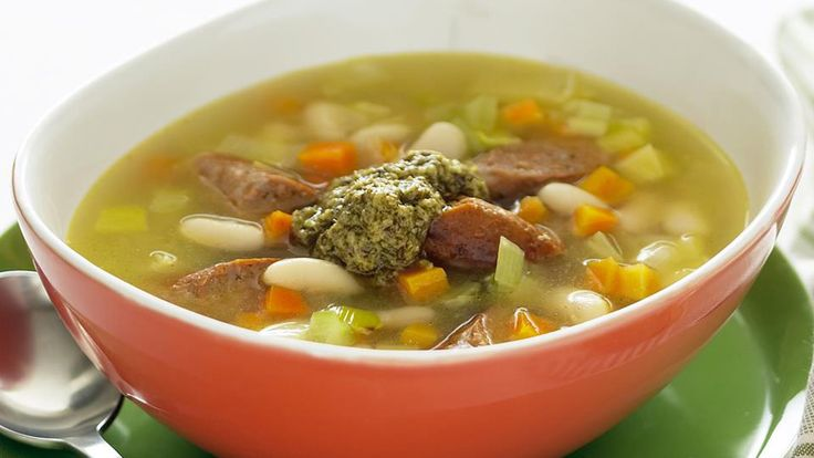 Cannellini bean, leek and sausage soup recipe - 9Kitchen