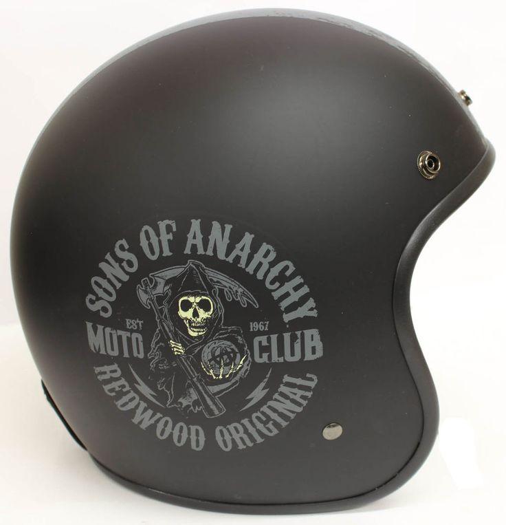 Casque Jet Moto Fantaisie SAMCRO Officiel  Sons Of Anarchy