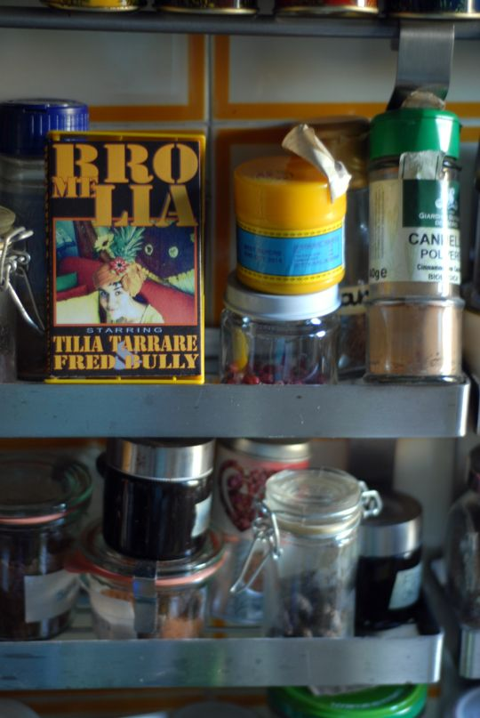 tape and spices in my kitchen