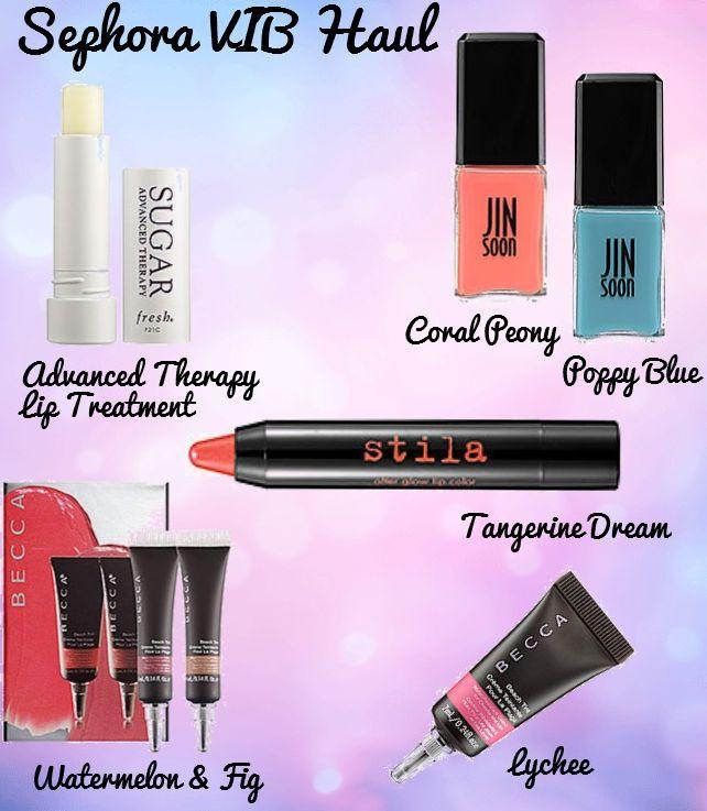 Sephora VIB Haul. Click through to see more! #beauty #makeup #fresh #jinsoon #stila #becca #crueltyfree