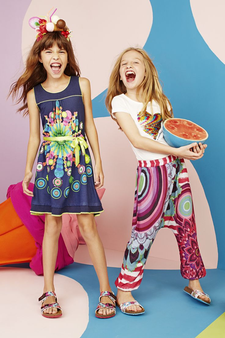 Colour and vitamins! This is Desigual for kids!  SS15