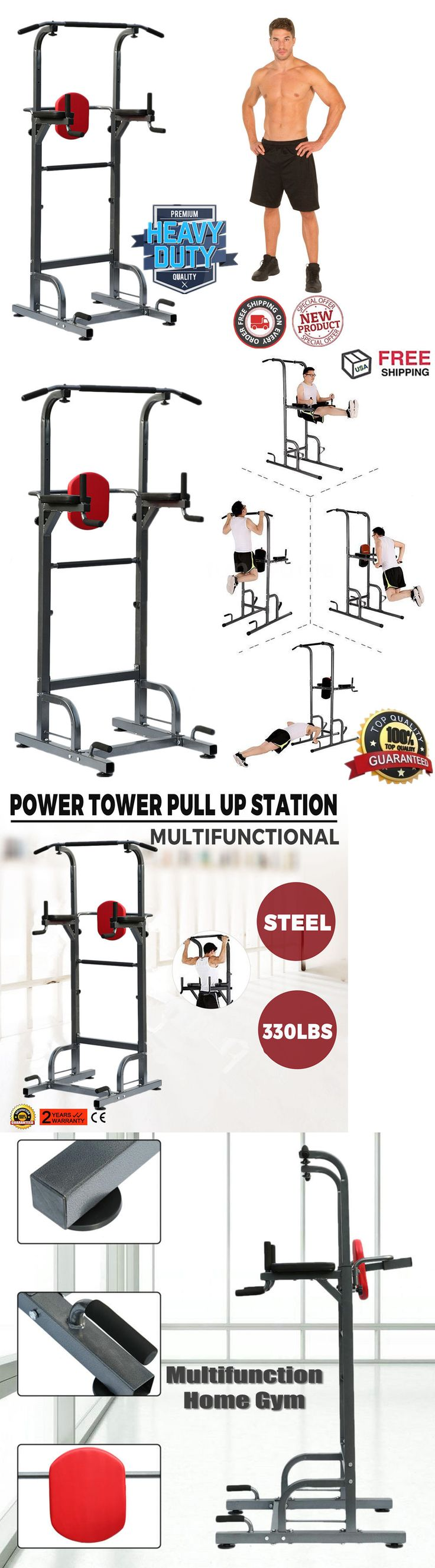 Home Gyms 158923: Dip Station Chin Up Tower Rack Pull Up Weight Stand Bar Raise Workout Home Gym -> BUY IT NOW ONLY: $97.95 on eBay!