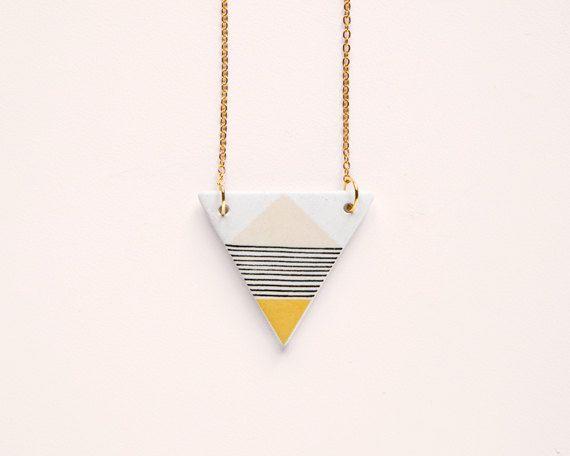 Triangle N6 - Geometric Ceramic necklace