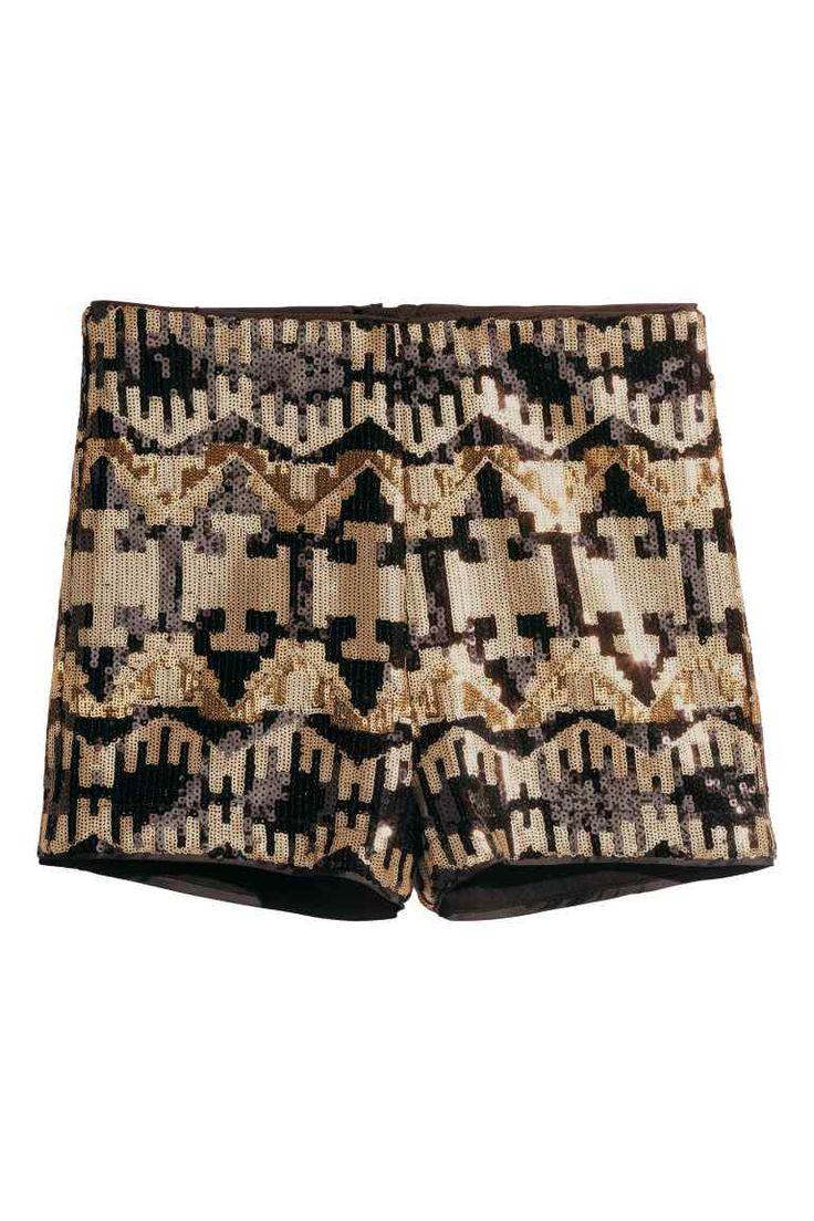 Pantaloni scurţi cu paiete | H&M