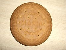 Thank-you Wikipedia. I now know what a Marie Biscuit is.