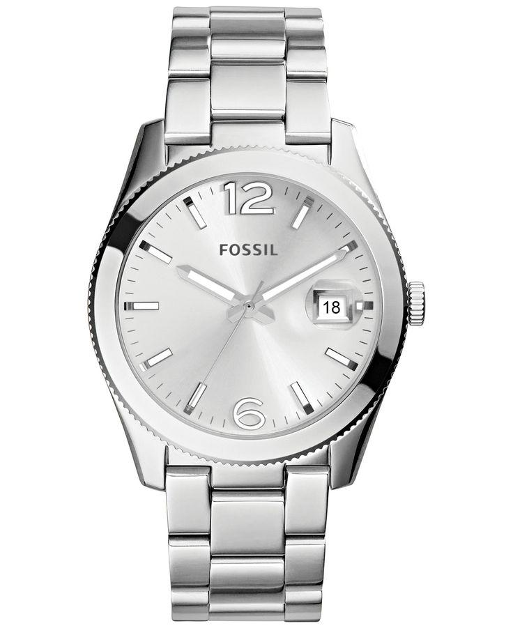 Fossil Women's Perfect Boyfriend Stainless Steel Bracelet Watch 39mm ES3585 - Fossil - Jewelry & Watches - Macy's
