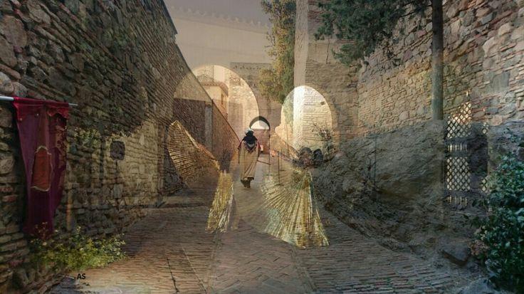 Los gomeres de Zegrí en la alcazaba de Málaga y sueños de baliarinas Najmarabic a su alrededor.