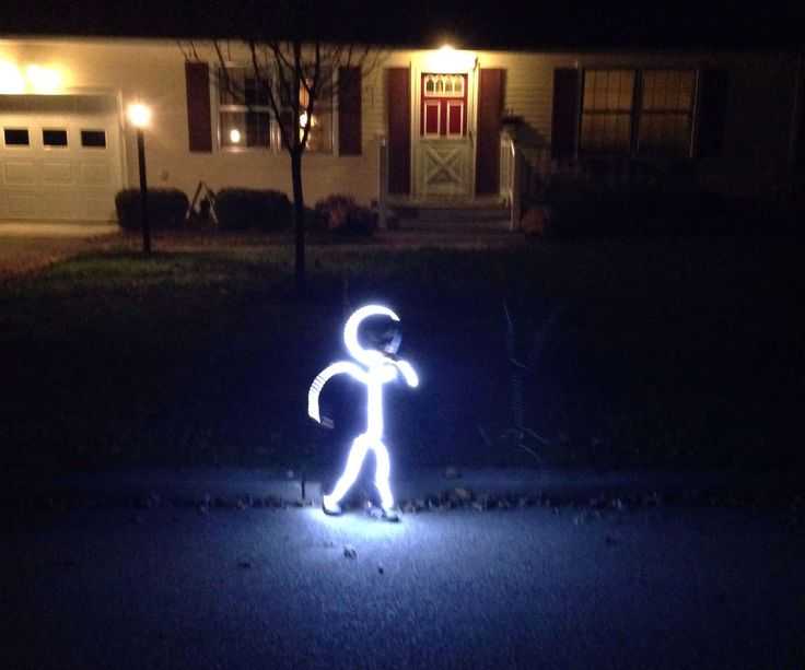 I'm going to show you how to build a simple LED stick figure costume. This project is super easy providing you have basic soldering skills. It was a huge hit in our neighborhood. I lost count of how many people said this was the best costume they had seen that night and how cool they thought it was. It seemed like every single house we went to had something to say about it.I've seen other tutorials on how to do this but none detailed the LED connections the way I felt they needed to be…