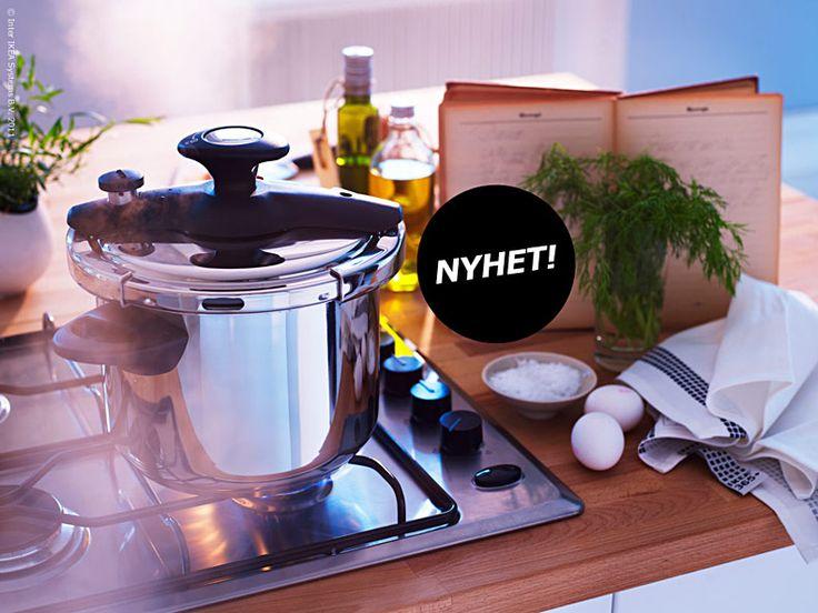 Nu gör retrokastrullen tryckkokaren comeback! Långkok med alla ingredienser i en kastrull är ett bekvämt och populärt sätt att laga middag, inte minst bland alla matbloggare. Till långlagat passar tryckkokaren DILLKÖTT perfekt eftersom den kan halvera koktiden. Vad sägs om potatis färdig på tio minuter?