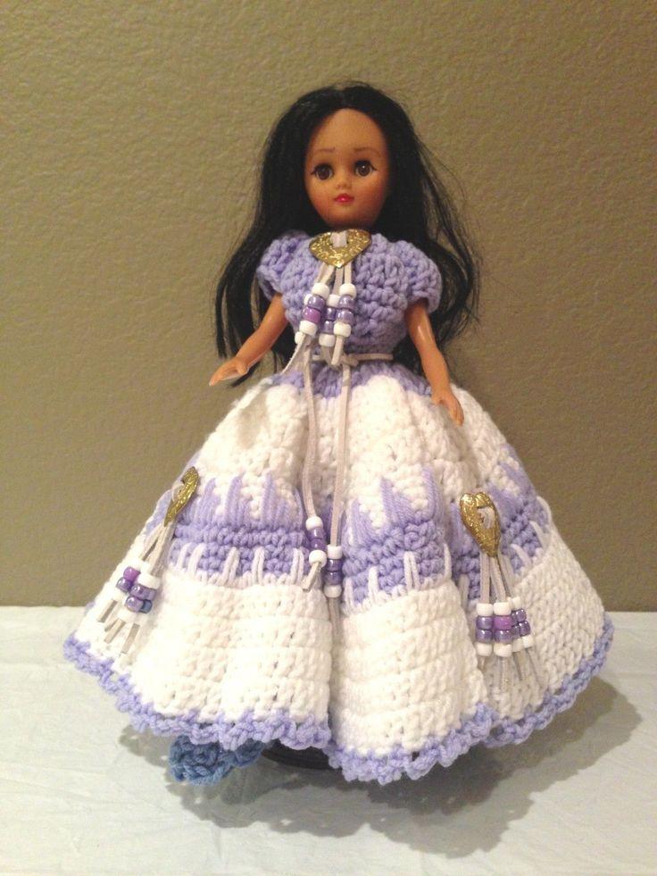 Indian Doll Native American Doll Crochet Dress Bead
