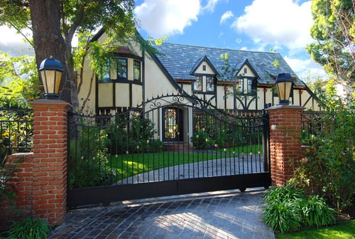 English tudor dream house pinterest english angeles Tudor style fence