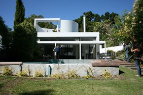 Rowan Lane houses, A+A de Souza Santos Architects, Cape Town, 1968-71. View of one of the five houses in 2012.