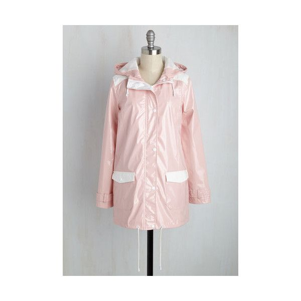 Pastel Long The Rains of the Operation Jacket ($70) ❤ liked on Polyvore featuring outerwear, jackets, anorak jacket, apparel, pink, pink anorak, long hooded jacket, pastel jacket and pink anorak jacket