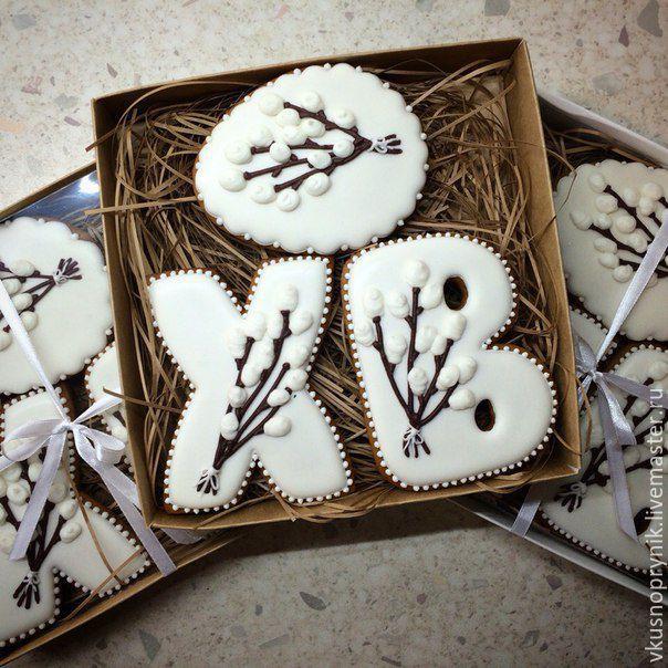 Купить Пряничный набор пасхальный - пасхальный сувенир, пасхальный подарок, пряники на пасху, имбирные пряники