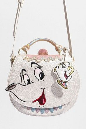6263a9238 Danielle Nicole x Disney's Beauty And The Beast Mrs. Potts Saddle Bag Icing