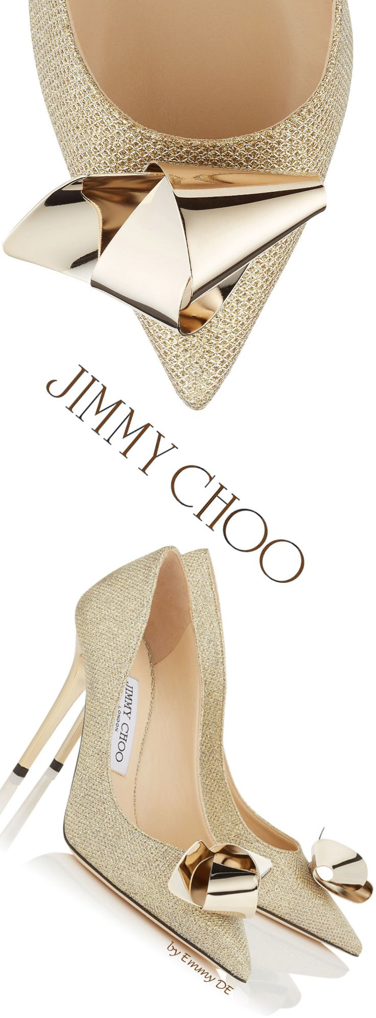 Jimmy Choo 'Vesna' 2016. I don't usually like gold but when I do...they are these amazing Jimmy Choos!