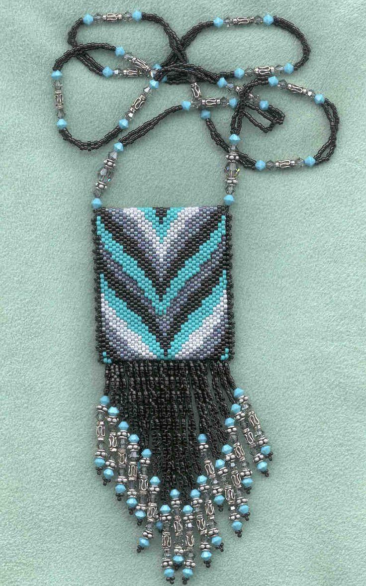 amulet purse cat patterns | amulet bag with fringe