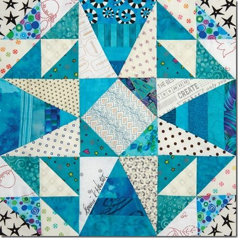 """Straights of Mackinac"" block by Bonnie Hunter in Quiltmaker's 100 Blocks mag. vol.#14                                                                                                                                                                                 More"
