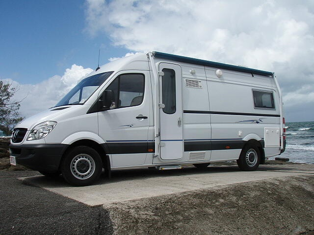 Sunshine Motorhomes (Australia) makes custom Sprinter camper conversions complete with a coach-style motorhome door (also available from DIY RV, www.diyrvshop.com) - love to have that option for Sprinter custom conversions in North America.