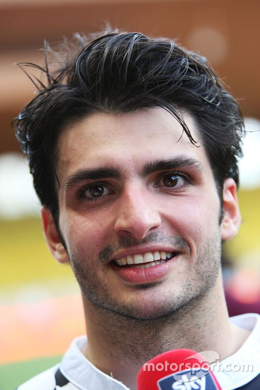 Carlos Sainz Jr., Scuderia Toro Rosso at a charity football match with the media
