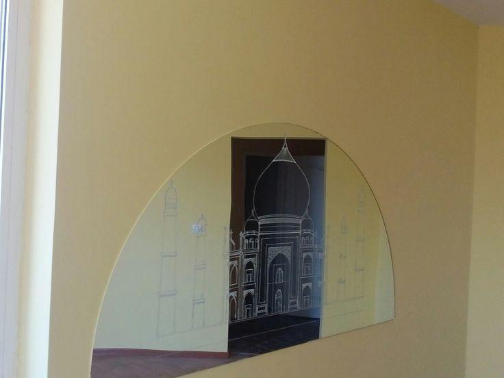 Mirror painting Taj Mahal