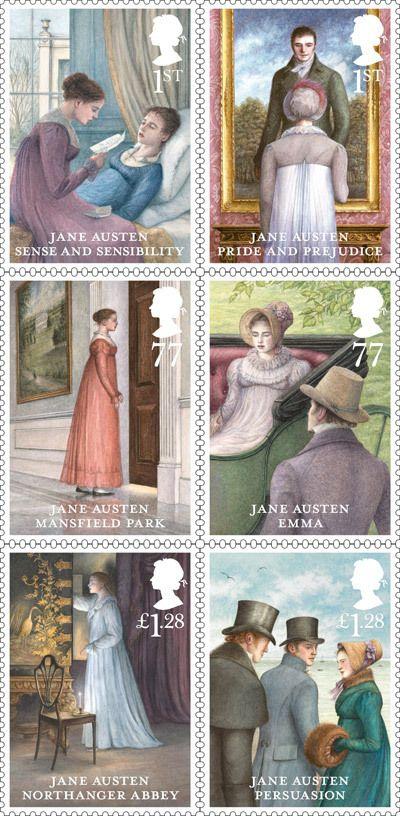 sellos de las novelas de Jane Austen                                                                                                                                                                                 Más