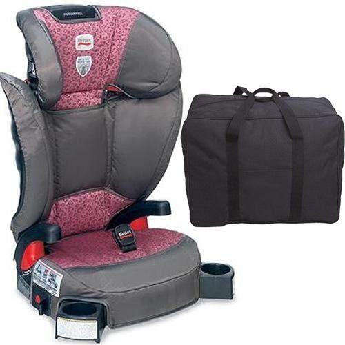 Britax Parkway SGL  Booster Seat with a car seat Travel Bag  Club Pink -- More info could be found at the image url.