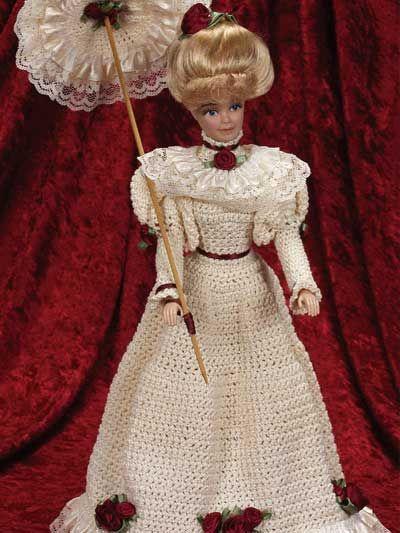 Stroll in Garden Fashion Doll Outfit- free crochet pattern