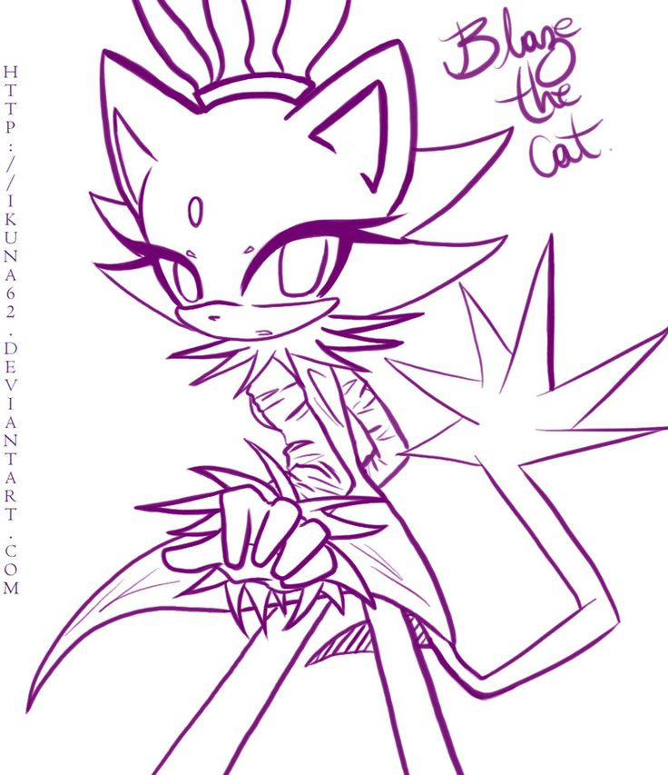Blaze The Cat By Ikuna62 On DeviantART